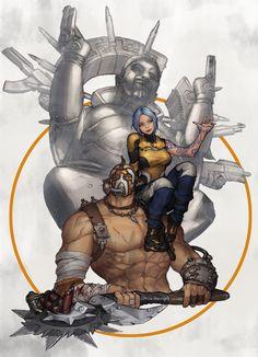 Maya and Krieg - Borderlands 2 Krieg Borderlands, Lilith Borderlands, Borderlands Series, Tales From The Borderlands, Mad Max, Game Character, Character Design, Videogames, Videogame Art