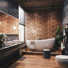 Best Small Bathroom Ideas - Minimalist, On Budget, and GOAT Minimal Interior Design Inspiration Modern Bathroom Design, Bathroom Interior Design, Interior Decorating, Contemporary Bathrooms, Bath Design, Bathroom Designs, Decorating Blogs, Tile Design, Design Dintérieur