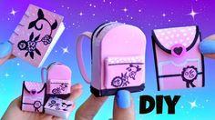 DIY HAZ MINIATURAS ESCOLARES DE MARINETTE Ladybug: Mochila, cuaderno, li...
