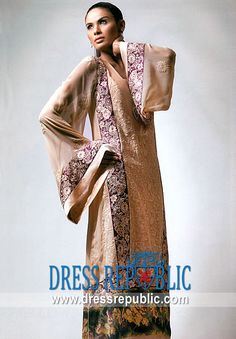 Taupe Avril, Product code: DR5114, by www.dressrepublic.com - Keywords: Salwar Kameez for Iftar Parties in Ramadan, Shalwar Kameez for Iftaar Parties in Ramzan 2011