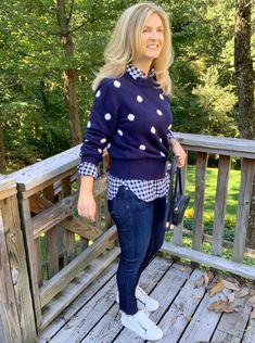 womens polkadot sweater, jcrew sweaters Southern Marsh, Southern Tide, Southern Prep, Plaid And Leopard, Erin Wasson, Minimal Classic, Models Off Duty, Bean Boots, Pattern Mixing