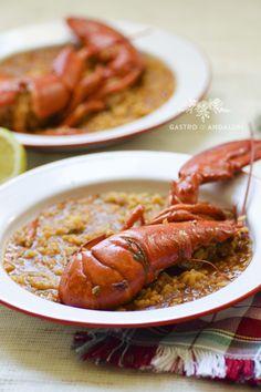 RECETA DE ARROZ CON BOGAVANTE, rice, spanish food, seafood, food photography,