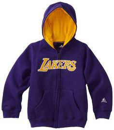 NBA Toddler Los Angeles Lakers Full Zip Hoodie - R24C8Gla (Regal Purple, 2T) Zip Up In Style In This Basic Wordmark Full Zip Hoodie By Adidas.