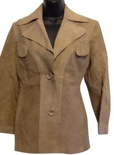 Jean Lachaud Creation Tan Leather Jacket