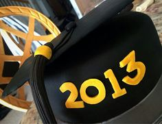 Fondant Graduation Cap Cake Class of 2013