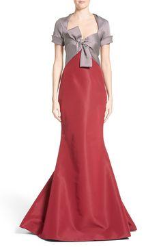 New Carolina Herrera Bow Front Colorblock Gown, Light Blue fashion dress online. [$5490]>>top10shopping Shop fashion 2017 <<