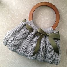 Ravelry: Christine Bag pattern by Knitting Nonstop (Dawn Matkovic) Knitting Patterns Free, Free Knitting, Free Pattern, Crochet Patterns, Knitting Ideas, Knit Crochet, Crochet Hats, Knitted Bags, Yarn Crafts