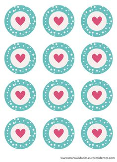 free heart printable toppers