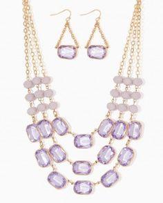 Triple Shimmer Necklace Set
