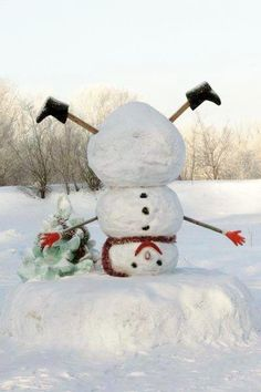 Snowman upside down... cute!  =)