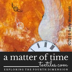 "Spend a moment with Sally Westcott and her nod to popular culture - a Doctor Who-inspired artwork ""Time Flies""."