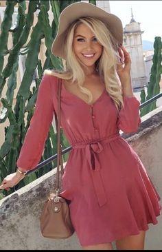 Cute pink dress - Dresses for Teens Dresses For Teens, Cute Dresses, Casual Dresses, Short Dresses, Casual Outfits, Cute Outfits, Fashion Outfits, Summer Dresses, Womens Fashion