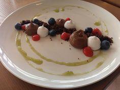 Chocolate Mousse (vegan) at Nomad Restaurant, Stellenbosch Nomad Restaurant, Study Abroad, Mousse, South Africa, Panna Cotta, Meals, Vegan, Chocolate, Breakfast