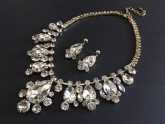 Excited to share this item from my shop: Victorian neckalce, gold jewelry set, bridal necklace, rhinestone necklace, bridal jewelry, wedding bridal set, statement necklace #wedding #victorian #classic #earrings #gold #goldjewelry #forbrides