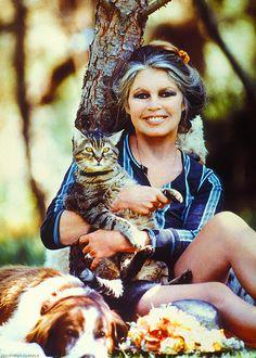 Brigitte Bardot and her friends