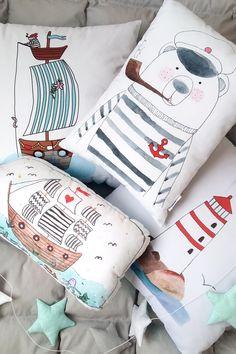 Teddy bear sailor o buy on Etsy - HappySpacesWorkshop - decorative pillows, boys room, boys room inspiration, blue boys room, kidsroom decor, nursery decor ideas, sea kidsroom