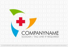 Pre-designed logo 1386: Medical Cross Rainbow Logo