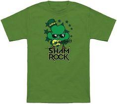 St Patrick's Day Rocking Shamrock T-Shirt.