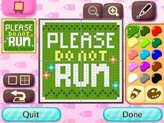 Please do not run sign