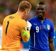 England's Joe Hart and Italy's Mario Balotelli