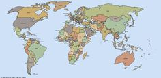 High Resolution Wallpapers world map image, 4500 x 2234 (617 kB)