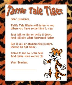 I saw this in Really Good Stuff and adapted it for a friend's jungle themed classroom. Great for helping manage tattling. ...
