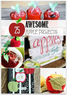 A collection of amazing Apple Crafts from treat cups to signs, printables and more!