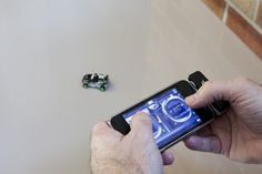 iPhone app controls tiny Hot Wheels car. Are you kidding? How fun is THIS? I'm OLD and I'd love this!