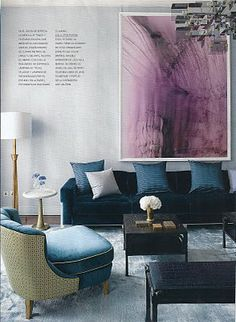 Love the hint of lilac with blue. Habitually Chic®: David Collins at Home