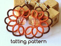 PDF Swirl earrings - tatting pattern by littleblacklace - instant download