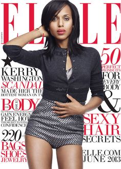 Cover Elle US June 2013 Feat Kerry Wahington By Horst Diekgerdes