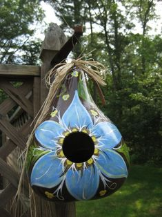 Gourd Craft Ideas Birdhouses | painted gourd birdhouse by jeanine