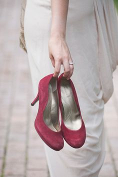 Burgundy Suede Heels with a Champagne Wedding Dress | Ashlee Mintz Photography | Golden Goddess - Crystal, Gold, and Champagne Bridal Shoot with Vintage 1920s Style