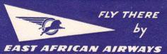 East African Airways Luggage Label (Blue)