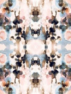 Mirror Print Pattern in muted pastel tones - beautiful symmetry; decorative surface design inspiration