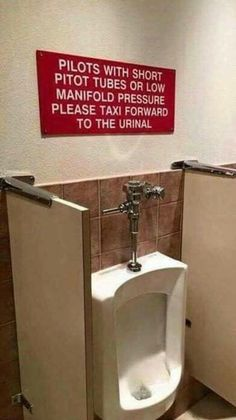 When they speak your language. 18 Outrageous Urinals That Had Us Stunned and Confused Aviation Furniture, Aviation Decor, Pilot Humor, Mechanic Humor, Aviation Mechanic, Airplane Mechanic, Aviation Insurance, Aviation Fuel, Airplane Humor