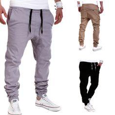 Mens-Trousers-Sweatpants-Harem-Pants-Slacks-Casual-Jogger-Dance-Sportwear-Baggy