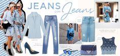 A trend da vez é usar jeans com jeans - de uma maneira fresh e ultra cool!