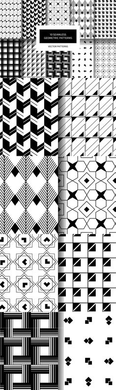Geometric Patterns - A great collection with 10 vector, geometric patterns!  These patterns are vector, so ...