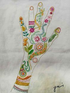 D oknommeaw - play: Playful embroidery # 6 workshop @ joyrukclub. Embroidery Applique, Cross Stitch Embroidery, Embroidery Patterns, Machine Embroidery, Textiles, Thread Art, Embroidery Techniques, Fabric Art, Matilda