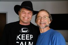 Micky Dolenz (left) and Peter Tork in February 2016