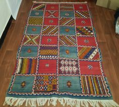 Moroccan Taznakht rug 207cm x 120cm vintage by Tourismedia on Etsy, $310.00