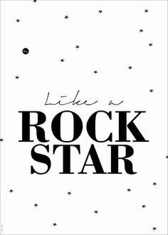 #poster Like a rock star 50x70 from www.kidsdinge.com https://www.facebook.com/pages/kidsdingecom-Origineel-speelgoed-hebbedingen-voor-hippe-kids/160122710686387?ref=hl #kidsdinge #kidsroom