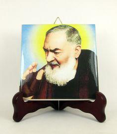 Saint Padre Pio of Pietrelcina Ceramic Tile  by TerryTiles2014