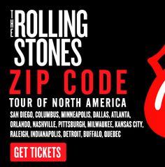 The Rolling Stones - Zip Code Tour Of North America.....best show ever! :) so happy that I went!