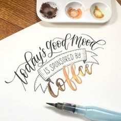 COFFEE . Day 30 of #JanuaryLetteringMotivation with @letteringbymhel @inkingwithjoy and @letteringjunkie. • • : @pentelofamerica touch sign pen, Artist Loft Watercolors and Liquitex Gold ink. • • #letteringchallenge #moderncalligraphy #brushlettering #brushcalligraphy #leftylettering #lefty #lefthanded #modernlettering #handlettering #handlettered #letter #handletteringnewbie #create #lovetype #instamood #coffee #banner #coffeeaddict #coffeelover #coffeeislife #qotd
