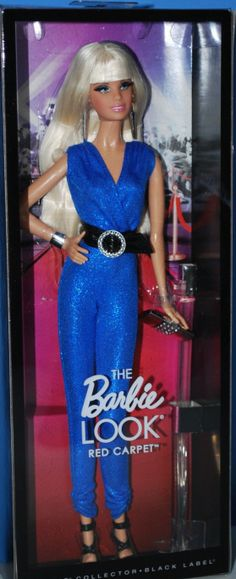 The Barbie Look Collection. Red carpet: blue jumpsuit Barbie in her box!