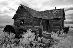 Old house in digital infrared   by Michael James Imagery