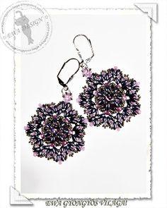 Ewa gyöngyös világa!: Twinlulu fülbevaló minta / Twinlulu earrings pattern