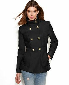 Jessica Simpson Double-Breasted Boucle Peacoat - Juniors Coats - Macy's Warm In The Winter, Double Breasted, Jackets For Women, Coats, Shopping, Fashion, Cardigan Sweaters For Women, Moda, Double Breasted Suit